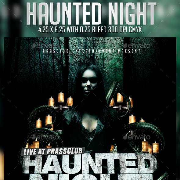 Haunted Night Flyer Template