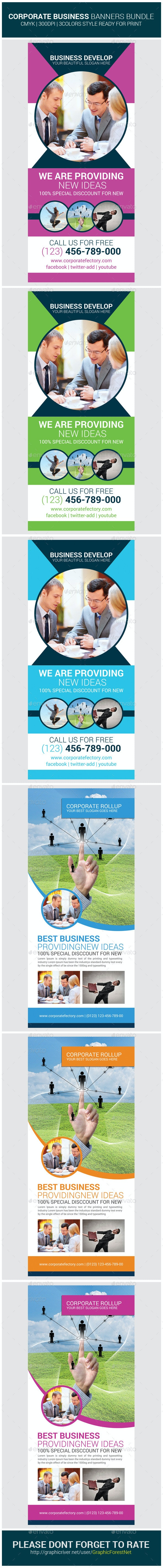 Corporate Business Rollup Banners Bundle - Corporate Flyers