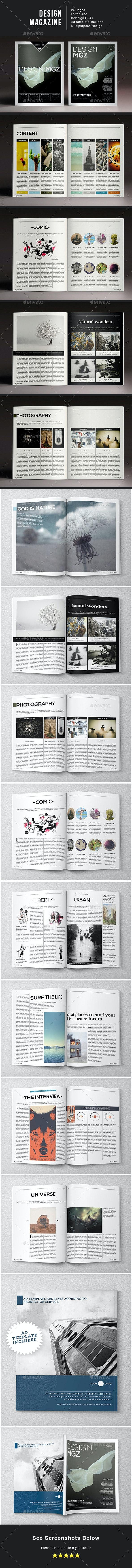 Design Magazine - Magazines Print Templates