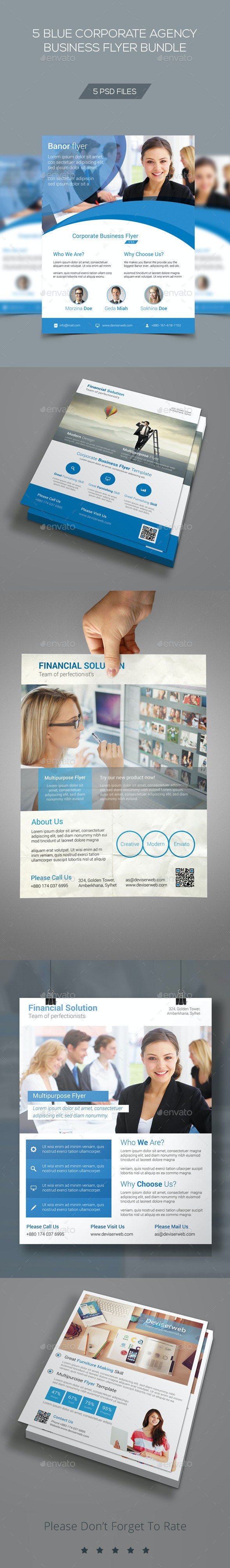 Blue Corporate Business Flyer Bundle V2 - Corporate Flyers