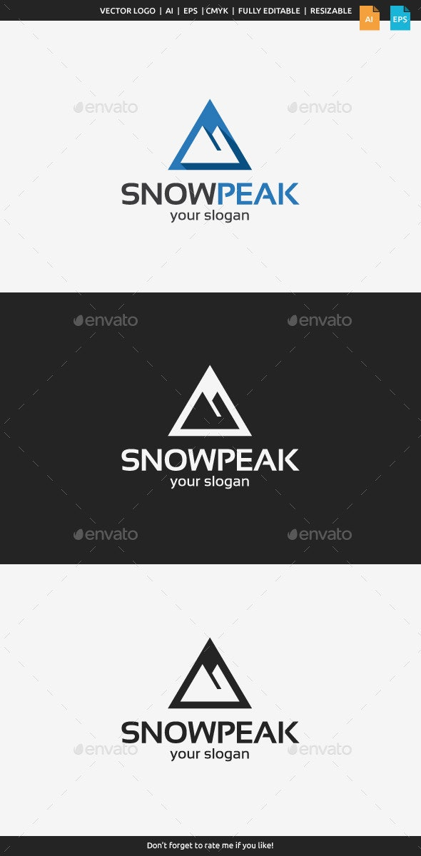 Snow Peak Logo - Symbols Logo Templates