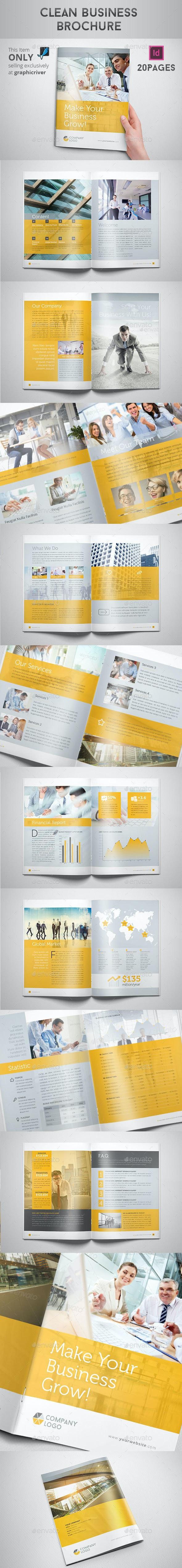 Clean Business Brochure - Corporate Brochures