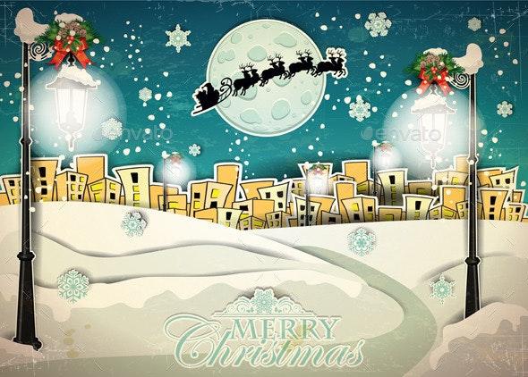 Country Snow at Christmas - Christmas Seasons/Holidays