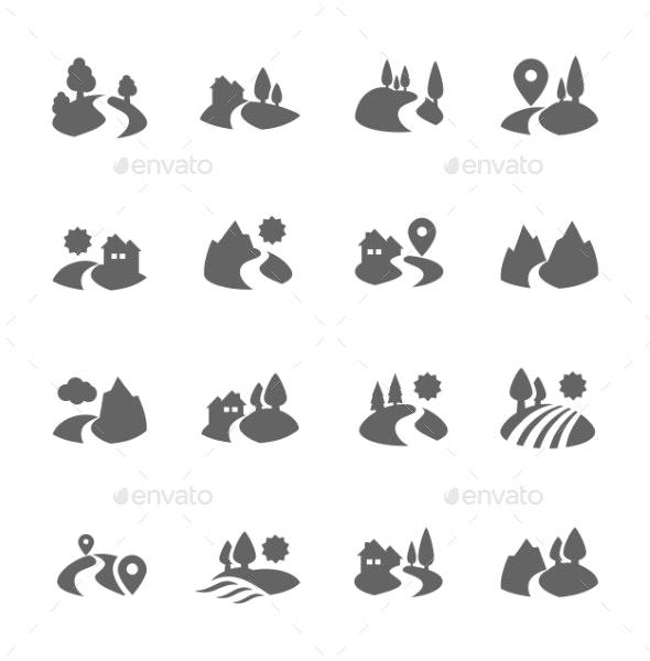 Land Icons - Icons