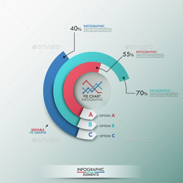 Smart Infographics Template With Pie Chart