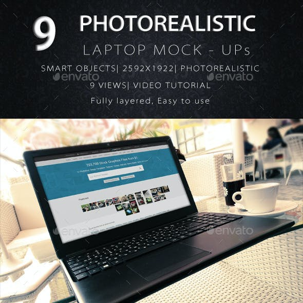 Photorealistic Laptop Mock-Up