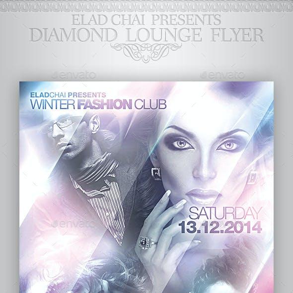 Diamond Lounge Winter Flyer Template