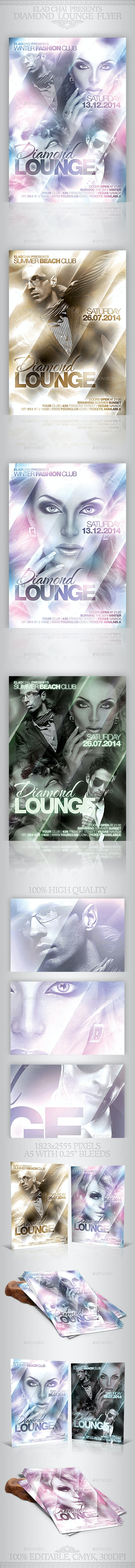 Diamond Lounge Winter Flyer Template - Clubs & Parties Events