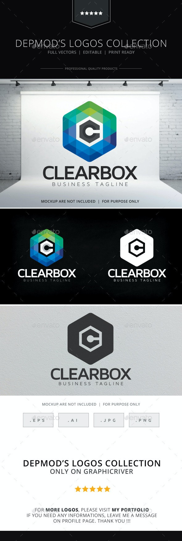 Clear Box Logo - Letters Logo Templates