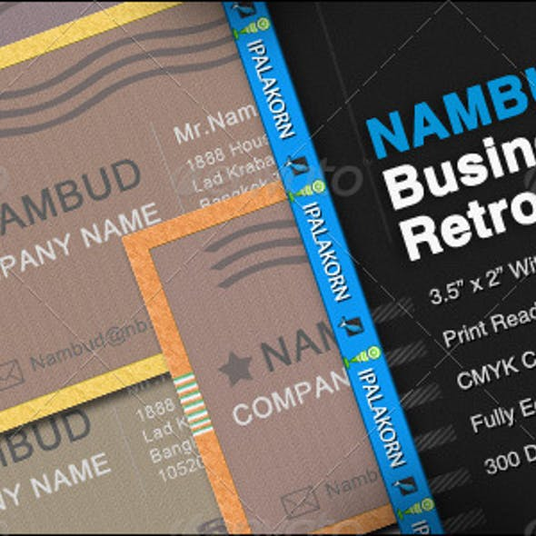 NAMBUD - Business Card Retro Style