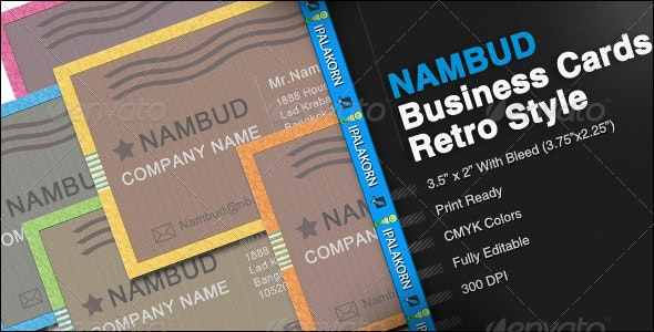 NAMBUD - Business Card Retro Style - Retro/Vintage Business Cards