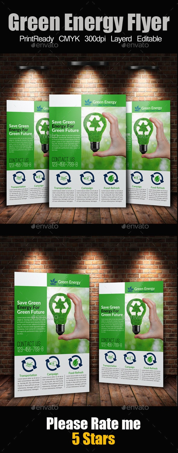A4 Green Energy Flyer - Corporate Flyers