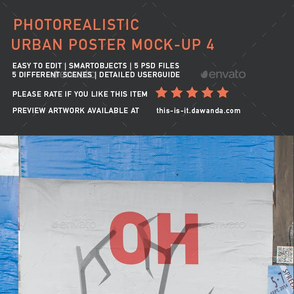 Urban Poster Mock Up 4