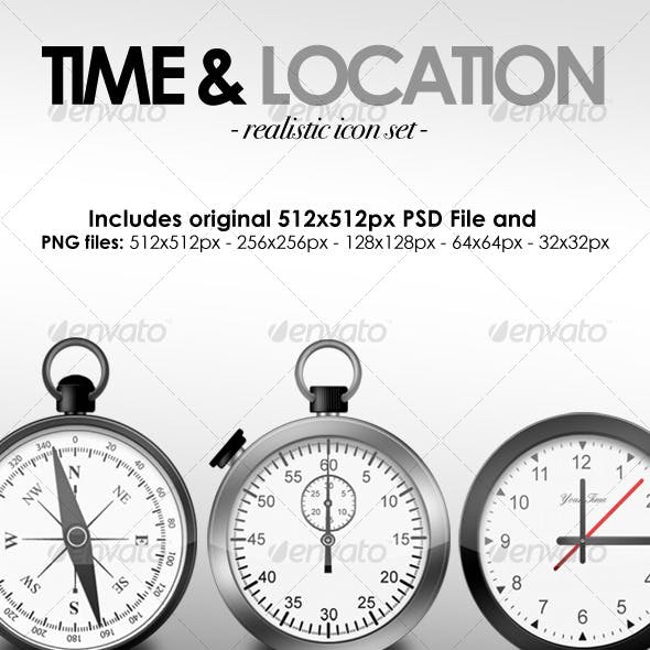 Time & Location Icon Set
