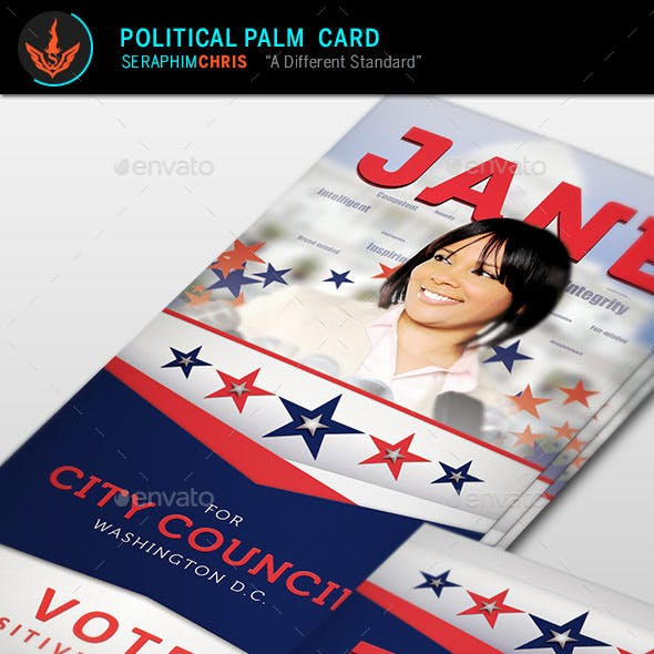 Jane 2 Political Palm Card Template