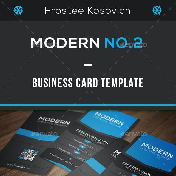 Modern Business Card Template No.2