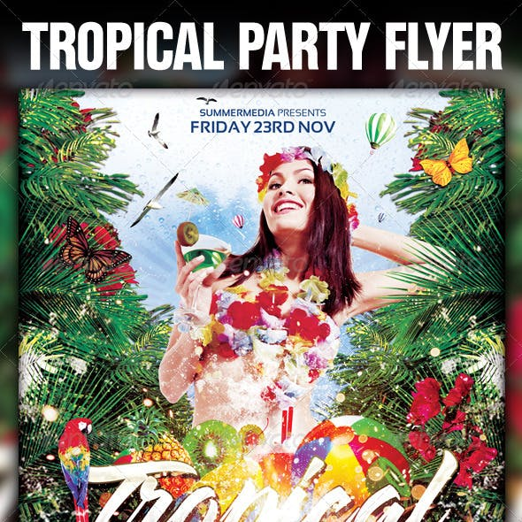 Tropical Summer Madness Party Flyer / Poster