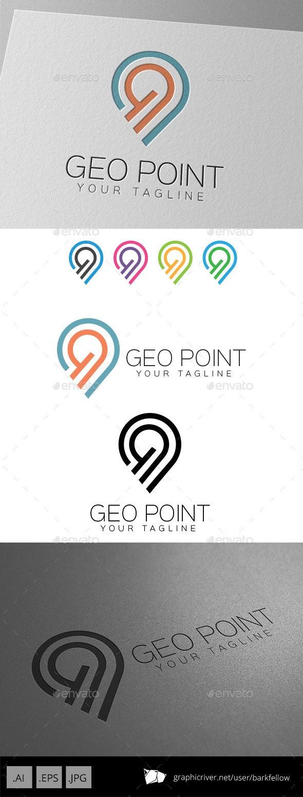 Geo Point Location Logo - Symbols Logo Templates
