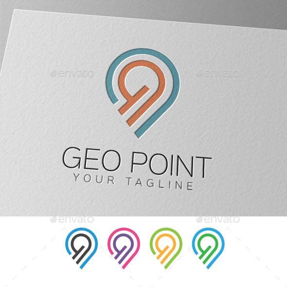 Geo Point Location Logo