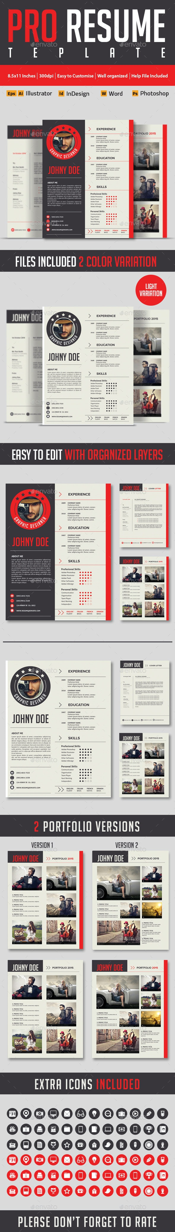 Modern And Profesional Resume Cv - Resumes Stationery