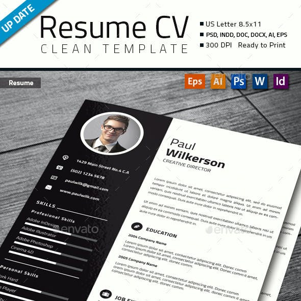 Modern And Profesional Resume Cv