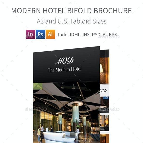 Modern Hotel Bifold / Halffold Brochure