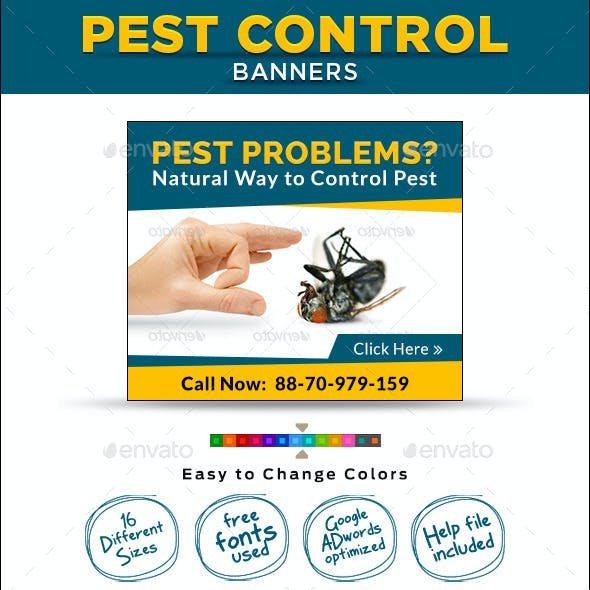 Pest Control Banners