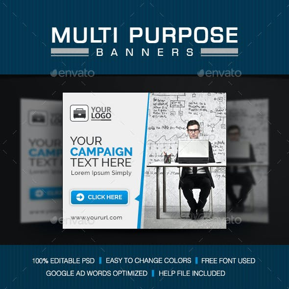 Multi Purpose Banner Set