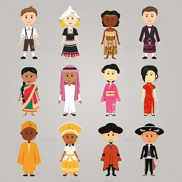 Different Ethnic People - People Characters
