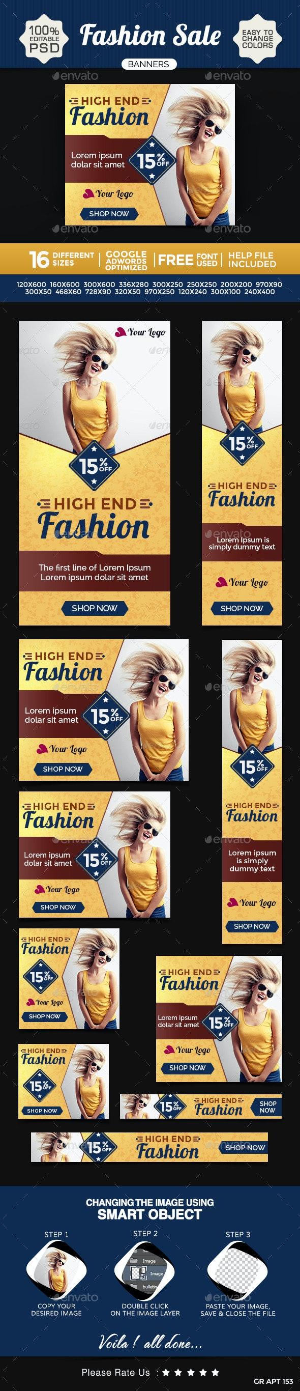Fashion Banners Design Set - Banners & Ads Web Elements