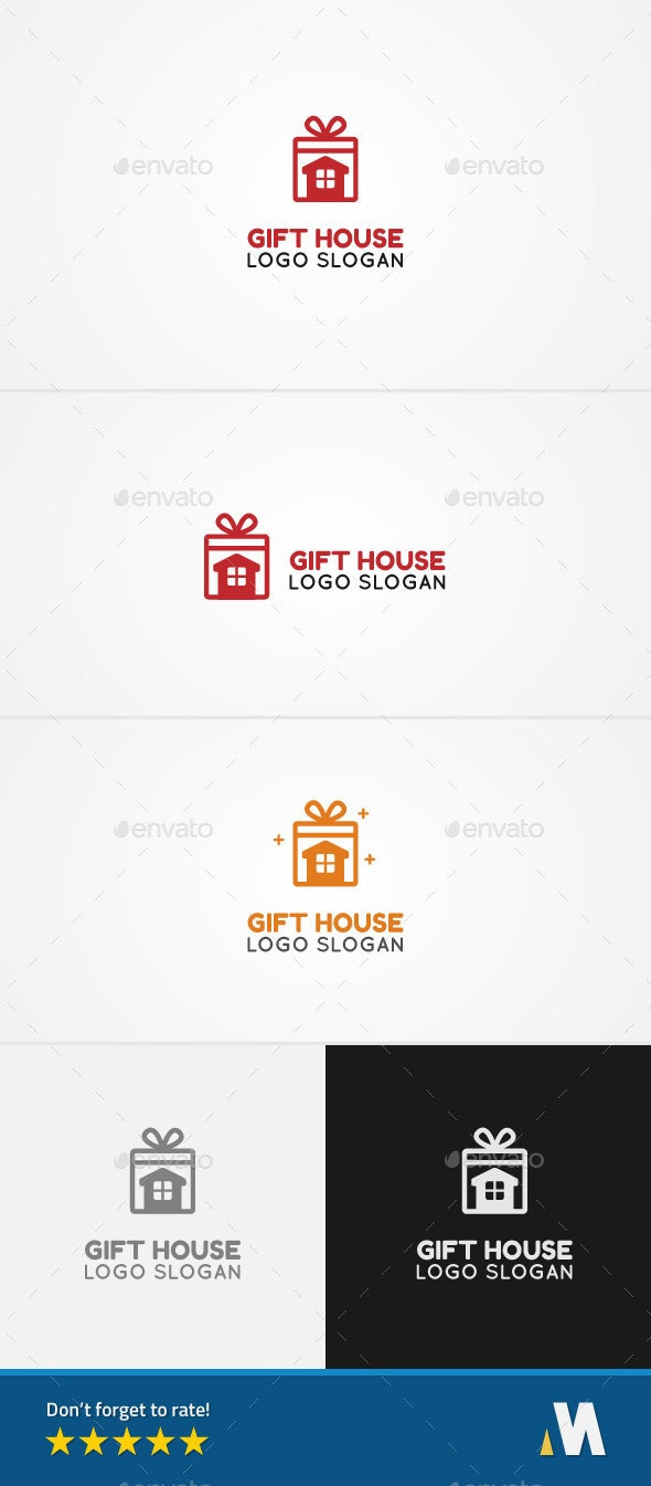Gift House - Buildings Logo Templates