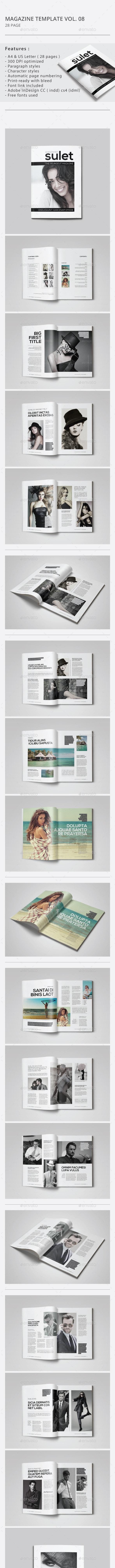 Indesign Magazine Template Vol.08 - Magazines Print Templates