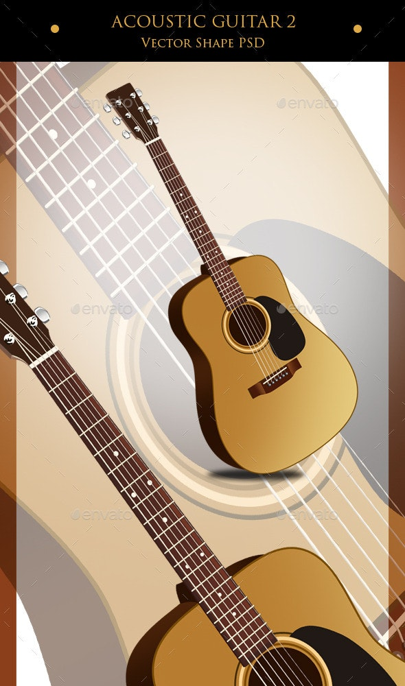 Acoustic Guitar 2 - Objects Illustrations