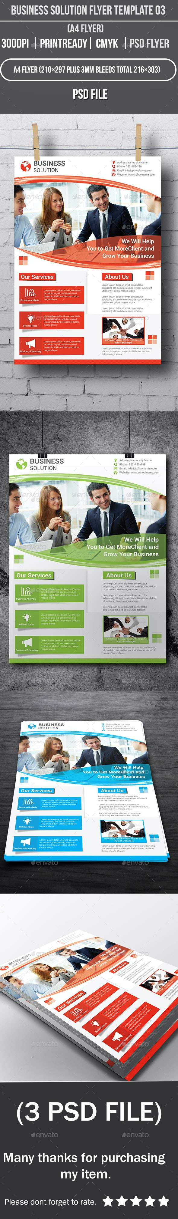 Business Solution Flyer Template 03 - Corporate Flyers