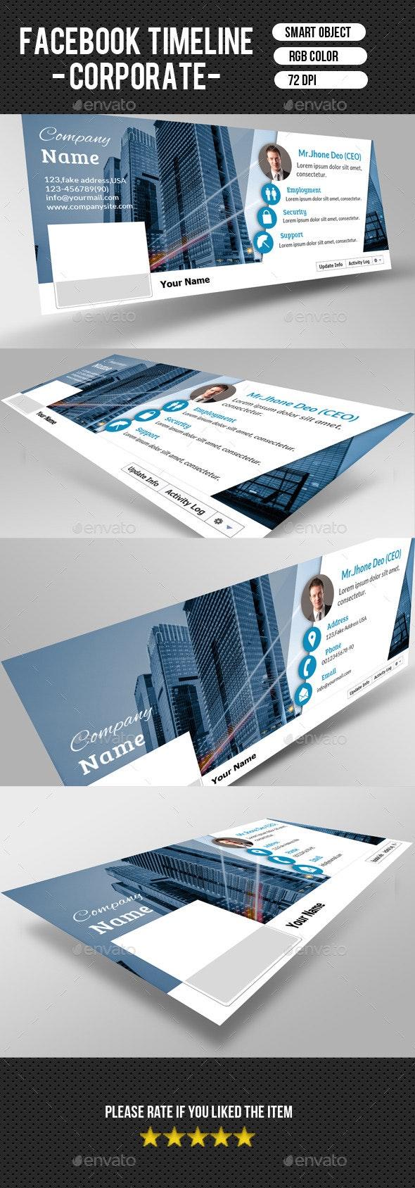 Corporate FacebookTimeline-V04 - Facebook Timeline Covers Social Media