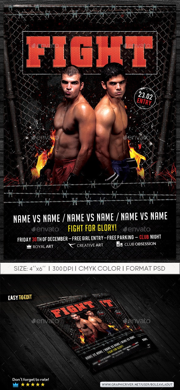 Flyer Fight Night - Sports Events