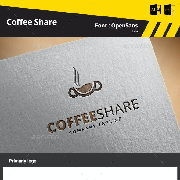 Coffee Share Logo Template