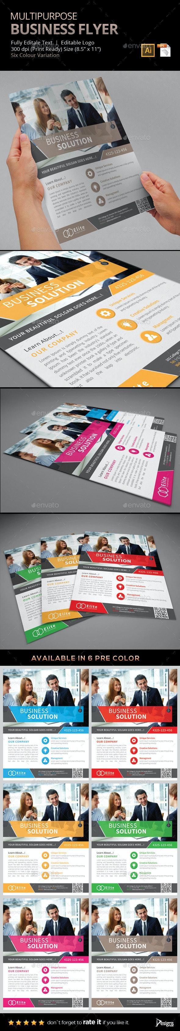 Flyer - Multipurpose Business Flyer 7 - Flyers Print Templates