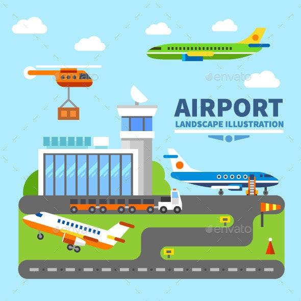 Airport Landscape - Landscapes Nature