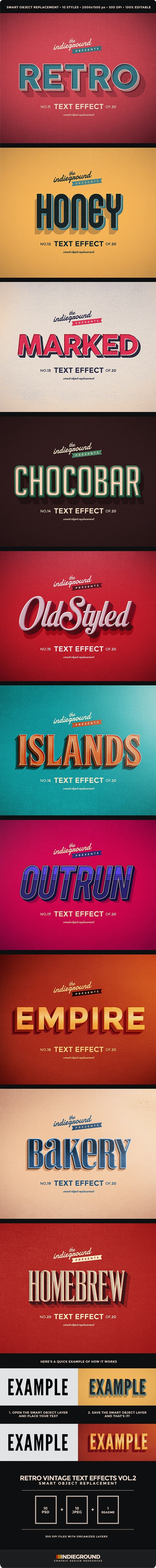 Retro Vintage Text Effects Vol. 2 - Text Effects Actions