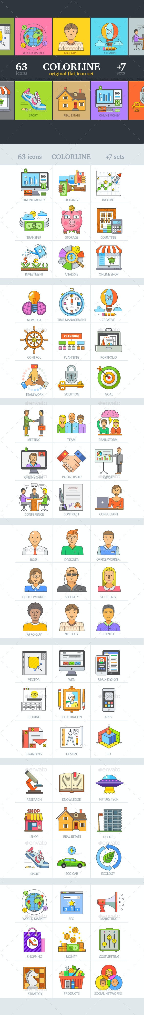 Business and Finance Modern Icon Set - Business Conceptual