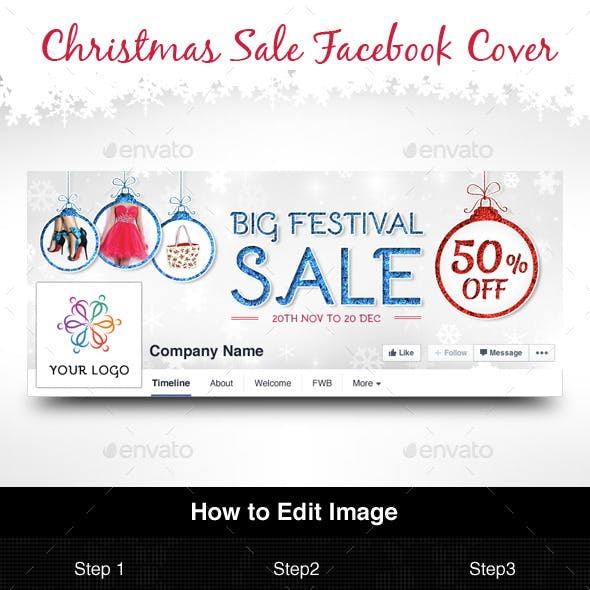 Christmas Sale Facebook Cover