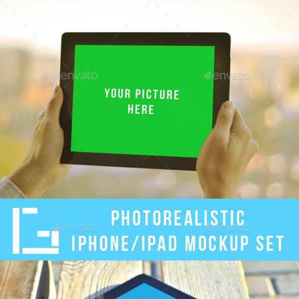 Photorealistic Iphone/Ipad Mock-up set