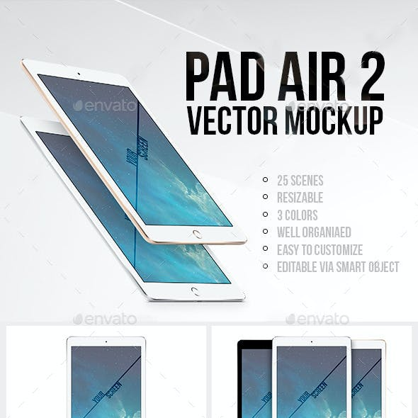 Pad Air 2 Vector MockUp