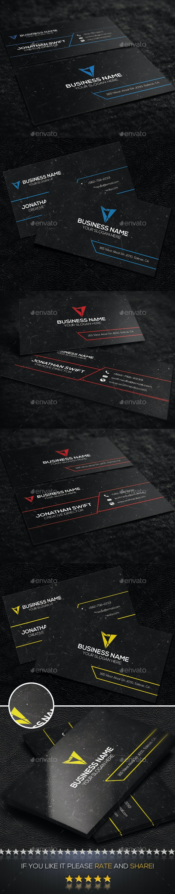 Corporate Business Card No.05 - Corporate Business Cards