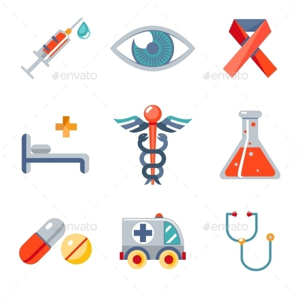 Health and Medical Icons Set  - Health/Medicine Conceptual