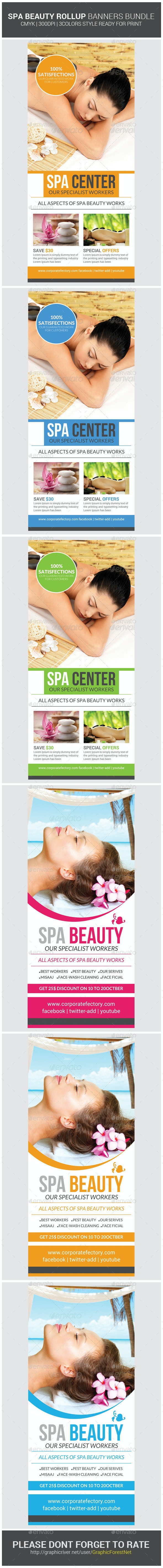 Spa & Beauty Saloon Roll-up Banners Bundle - Signage Print Templates