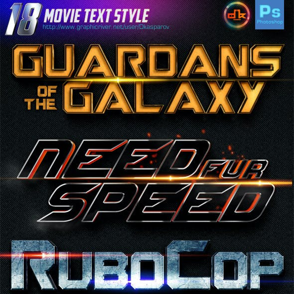 18 Movie Text Style (Bundle vol.1)
