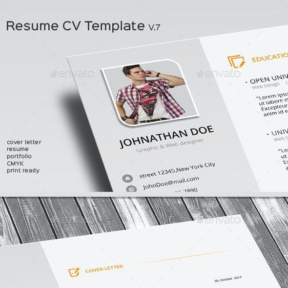 Resume CV Template V.7