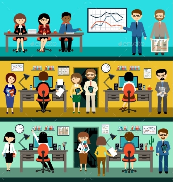 People in Flat Style Design - Business Conceptual